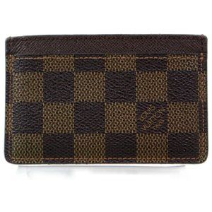 Louis Vuitton Damier Eben Card Case Holder Wallet